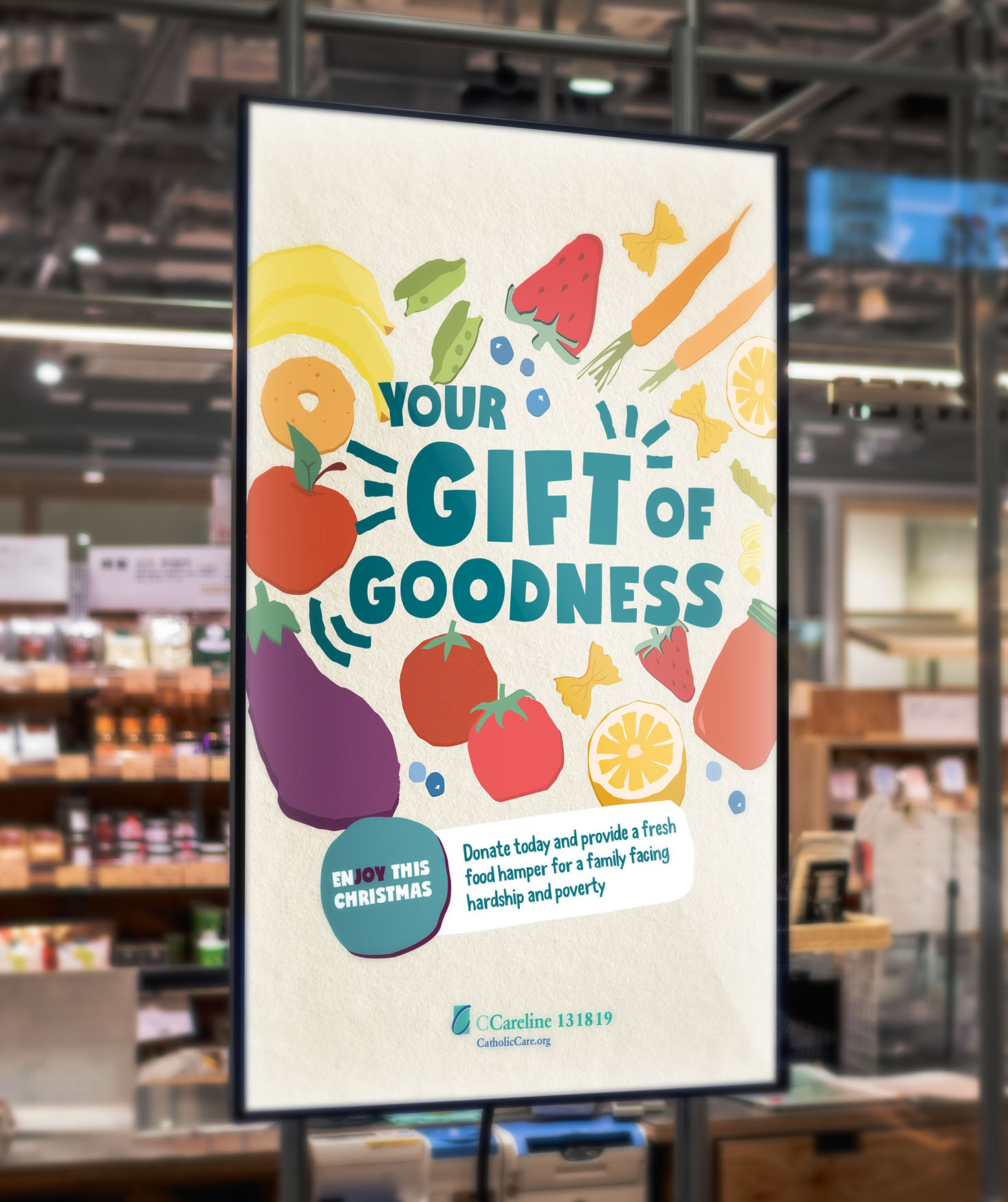 Three Blocks Left Gift Of Goodness Design Campaign